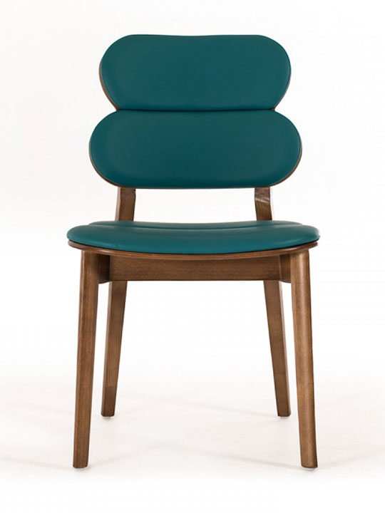 Bombay Turquoise Leather Chair