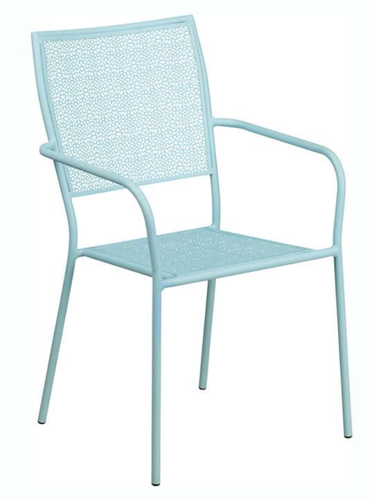 Metal brocade chair