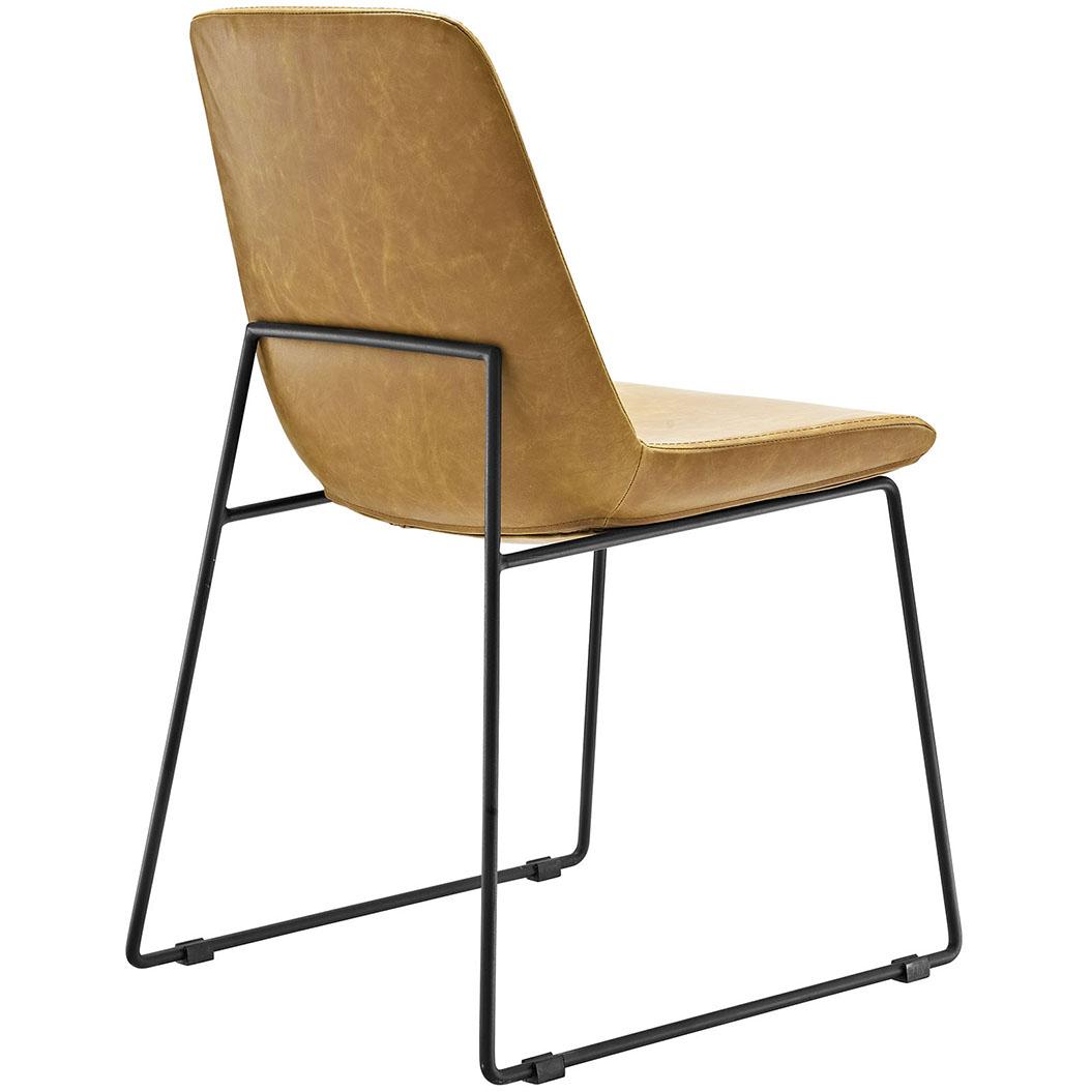 beacon tan side chair