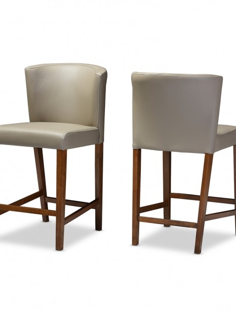 bevel gray leather counter stool 3 461x614