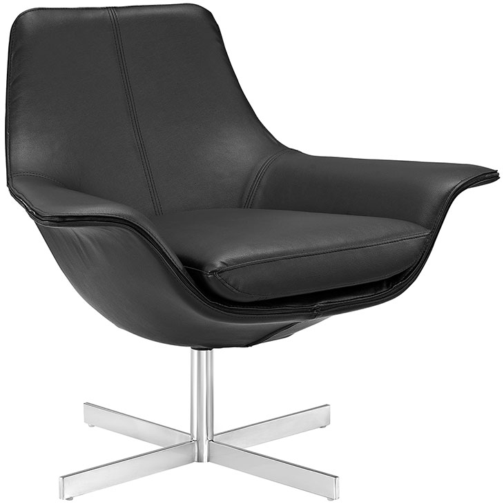 black wing lounge armchair