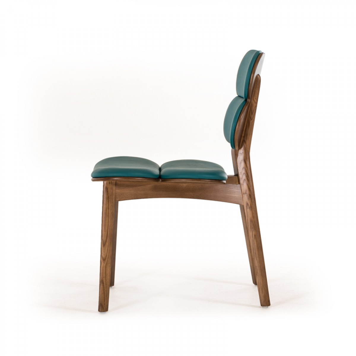 bombay turquoise leather chair 2