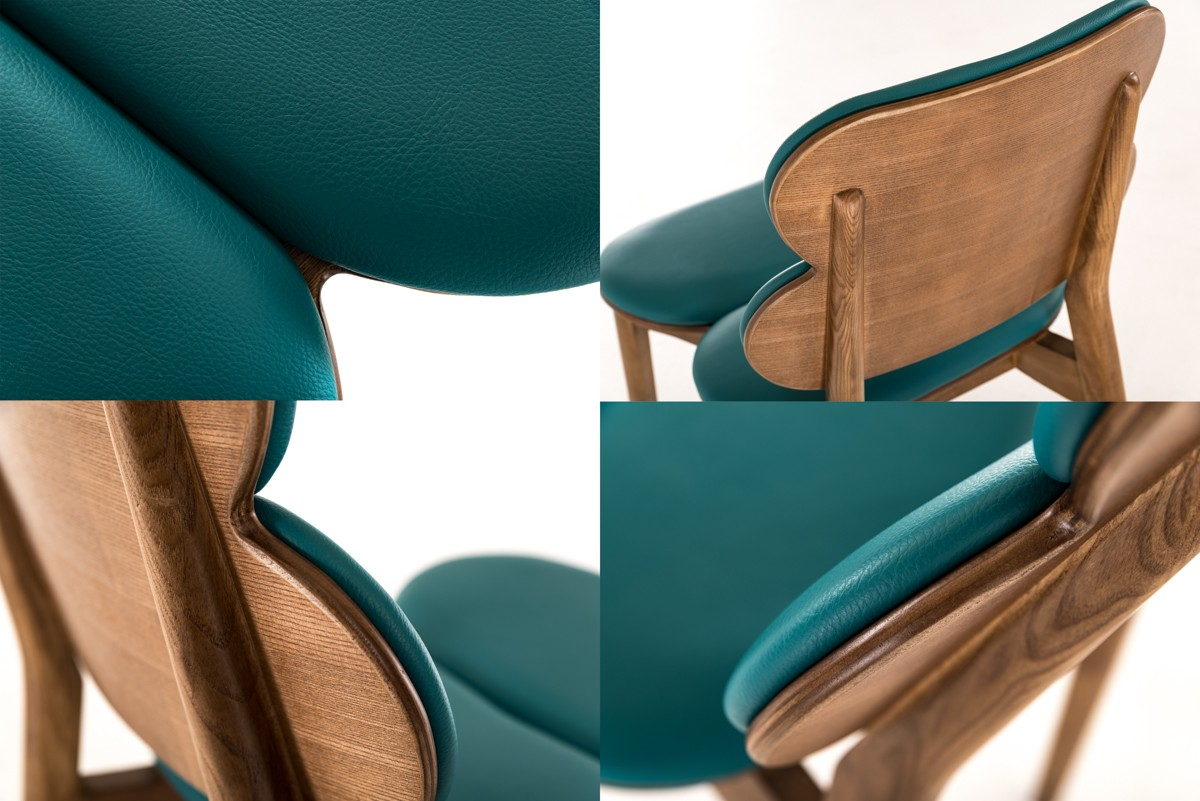 Bombay Turquoise Leather Chair 3