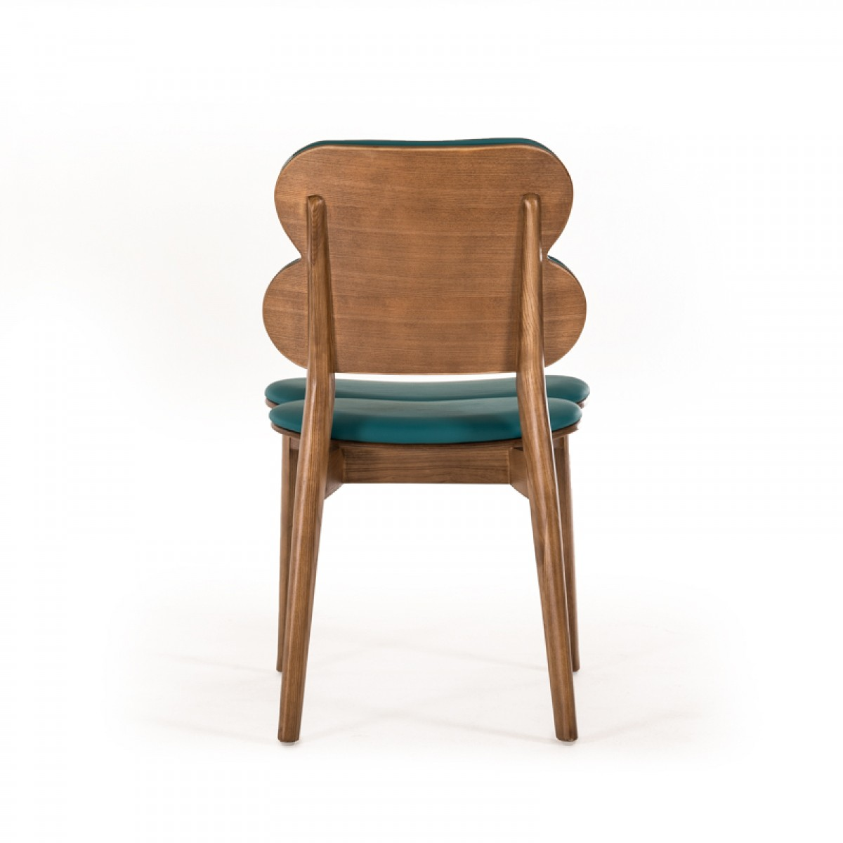bombay turquoise leather chair set