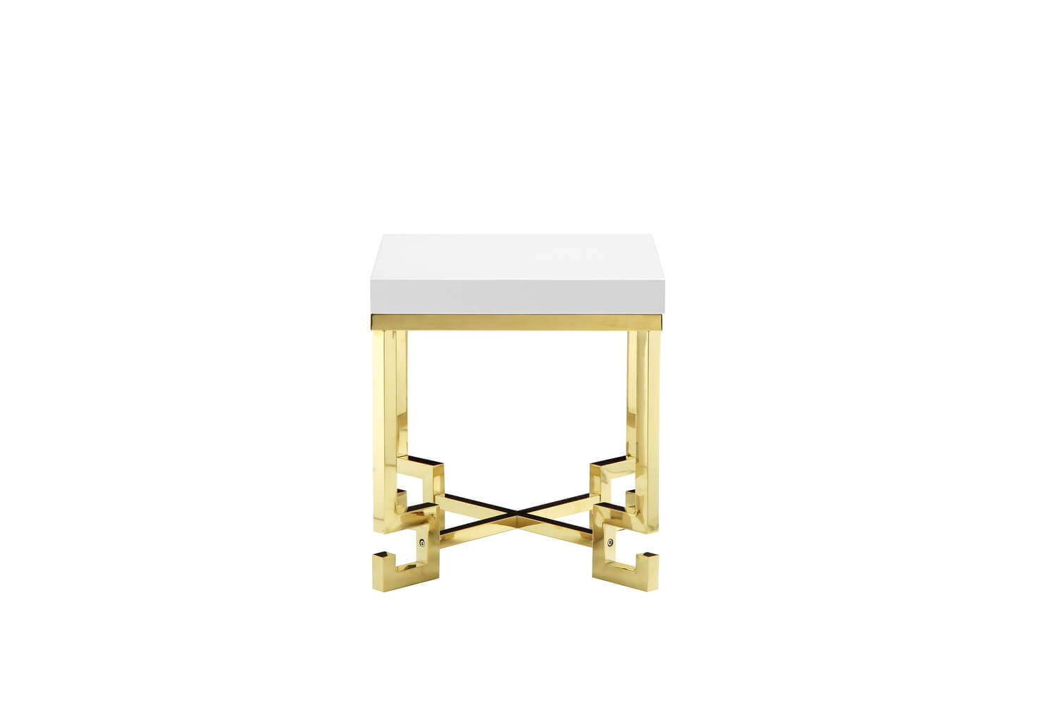 golden age gold white table