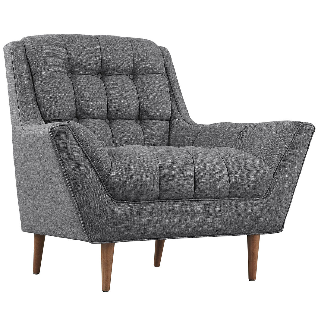 hued dark gray armchair