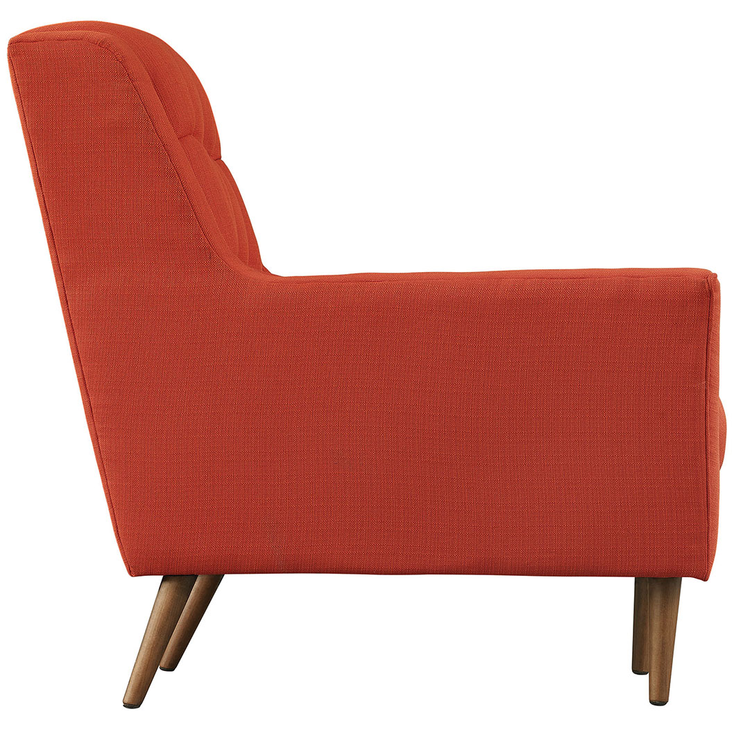 hued red orange armchair 2