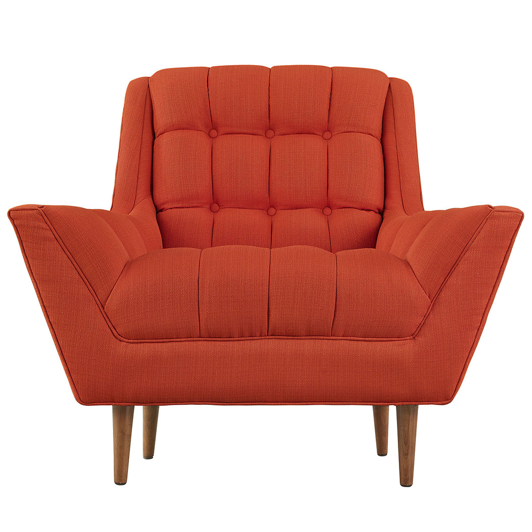 hued red orange armchair 3