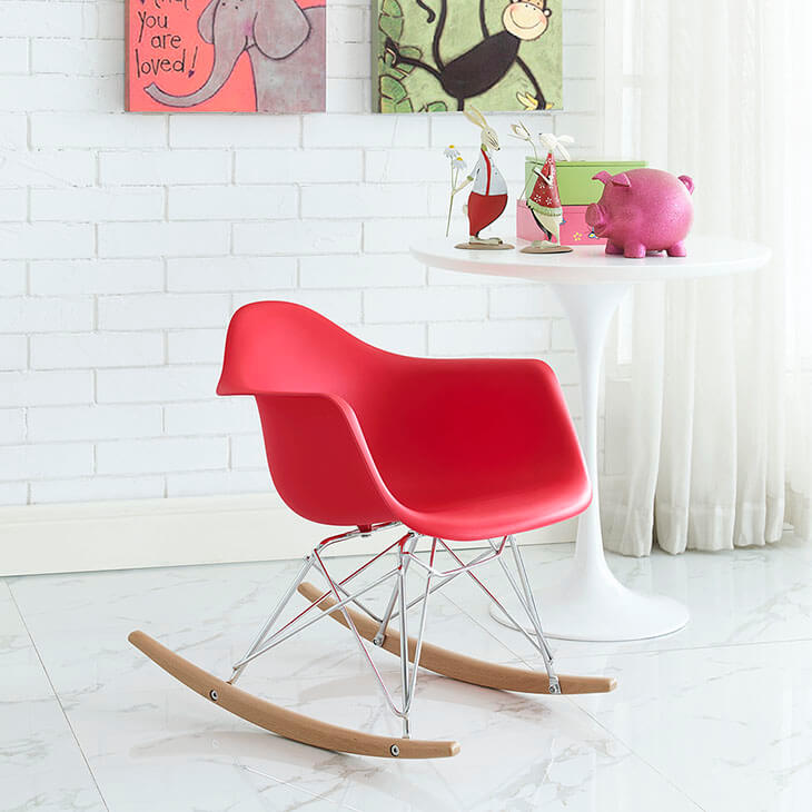 kids red rocking chair 5