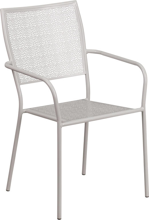metal brocade chair silver