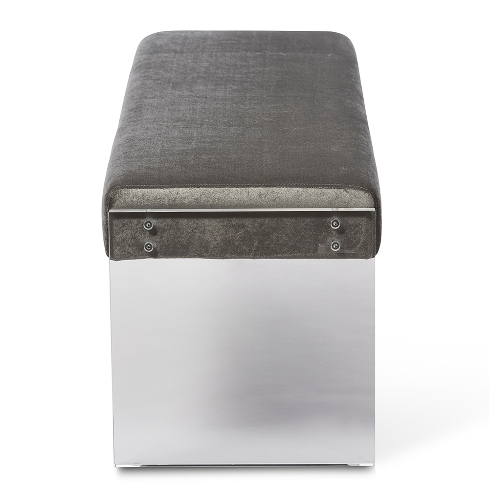 regency acrylic bench gray 3
