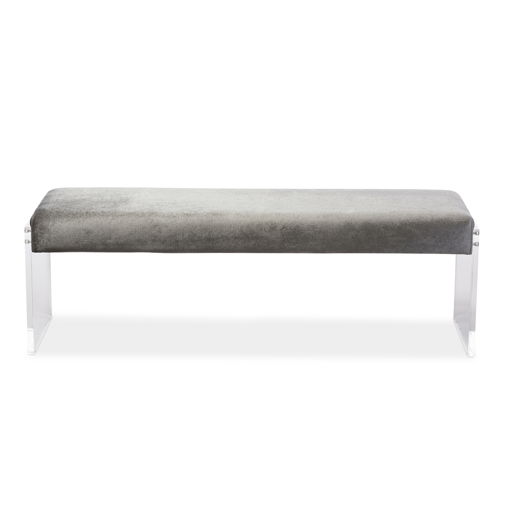 regency acrylic bench gray