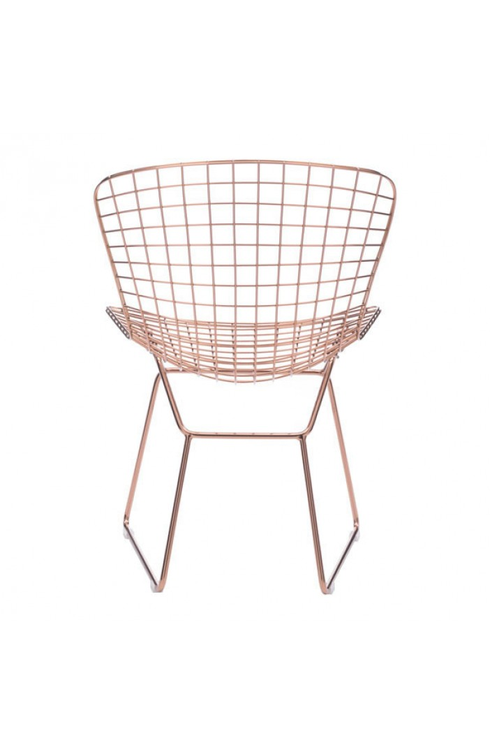 Rose Gold Dyson Wire Chair 2 Set Modern Furniture