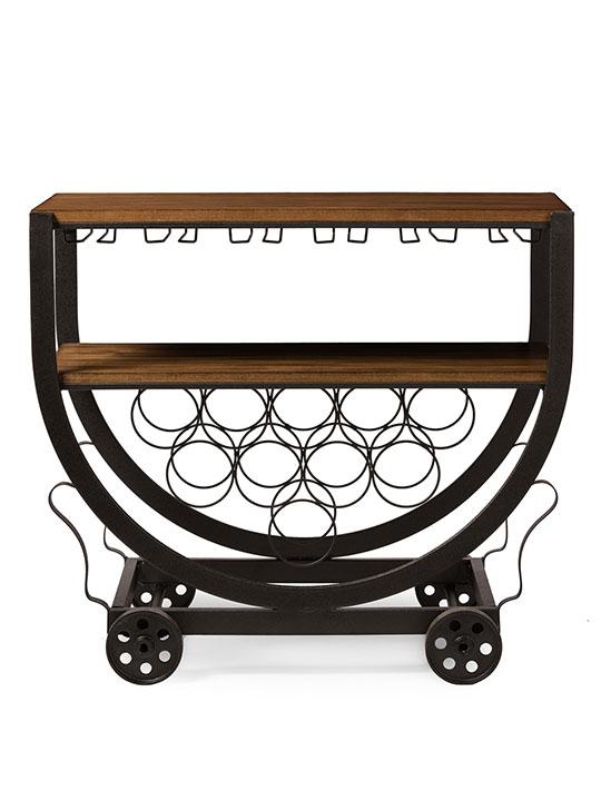 steampunk rolling bar cart