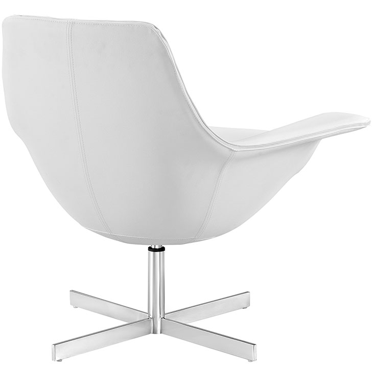 wing armchair white leather
