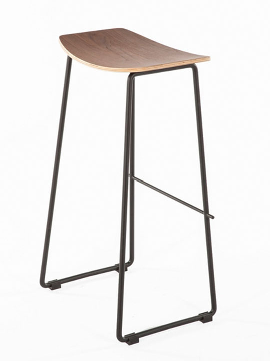 wood bend bar stool 1