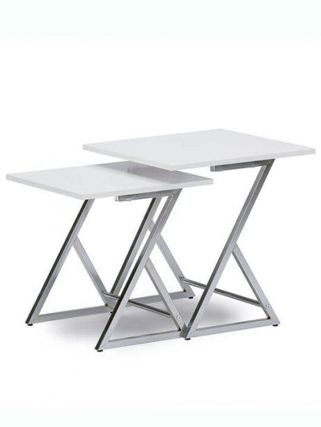 Milan White Nesting Table Set  461x614