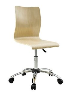 Natural wood task office chair 237x315