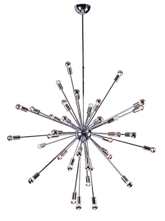 Sputnik large silver chandelier