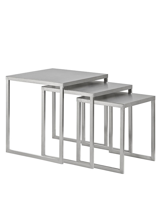 Stainless Steel Nesting Table Set