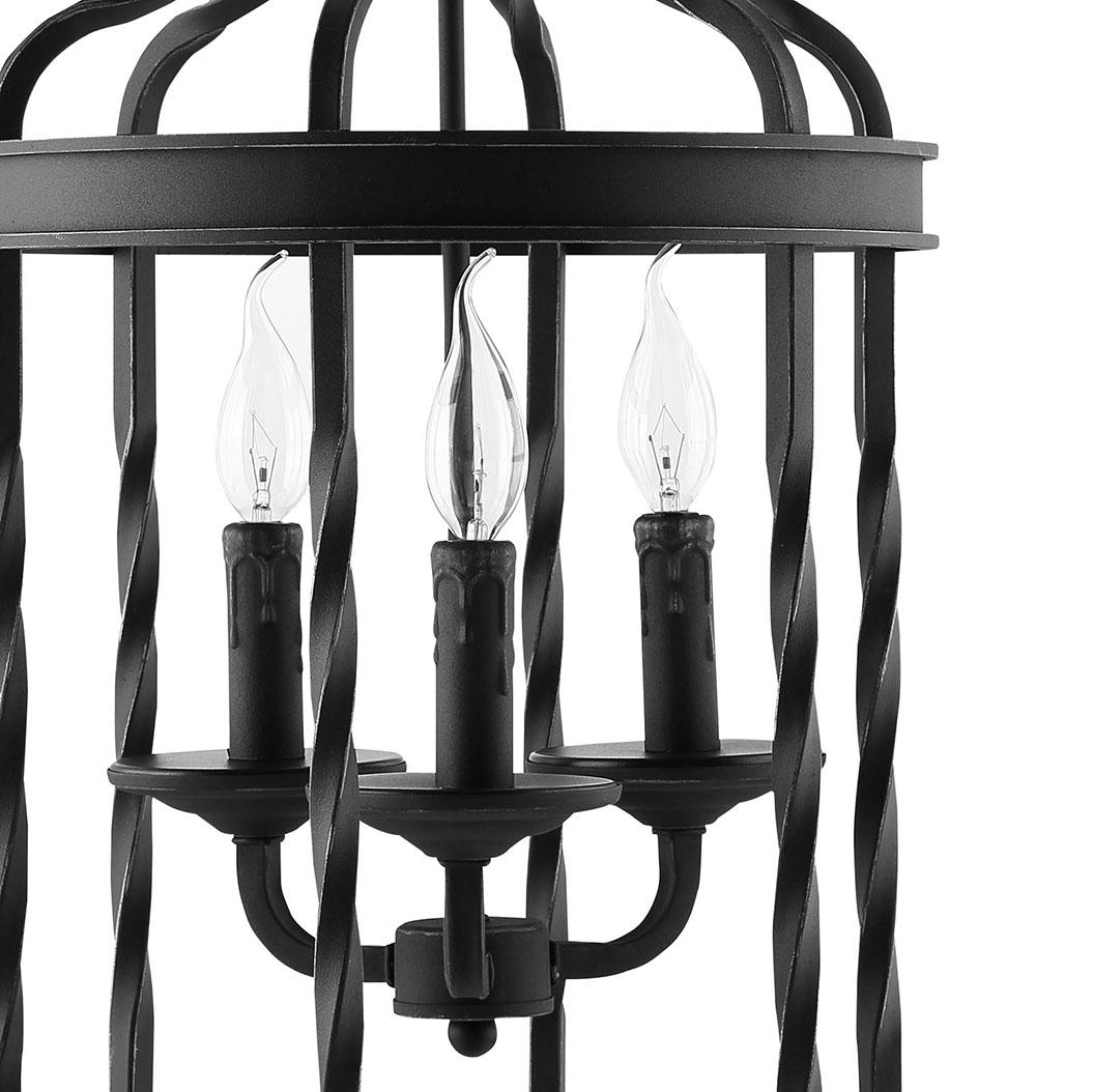 black caged pendant light 2