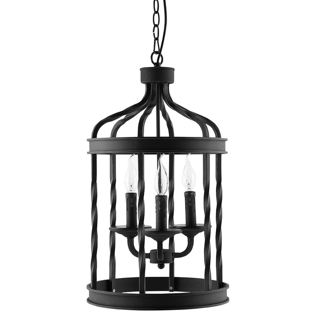 black caged pendant light