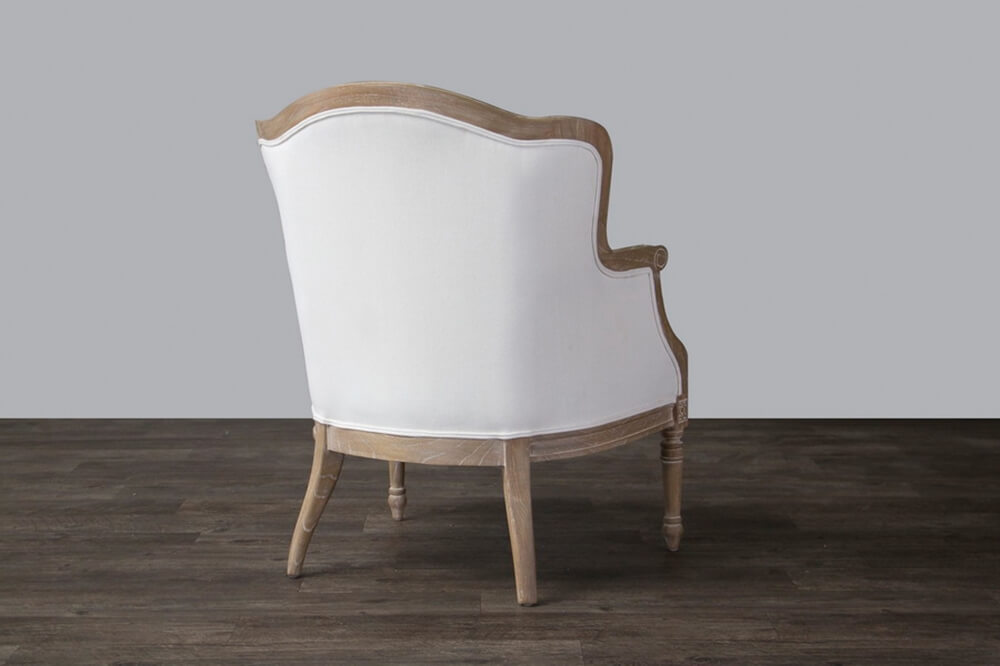 french accent chair oak wood 4