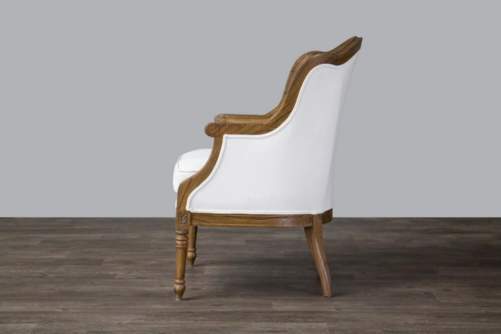 french accent chair walnut wood 2