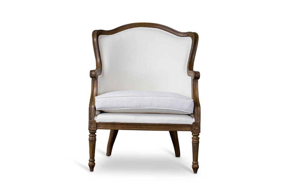 french accent chair walnut wood 4