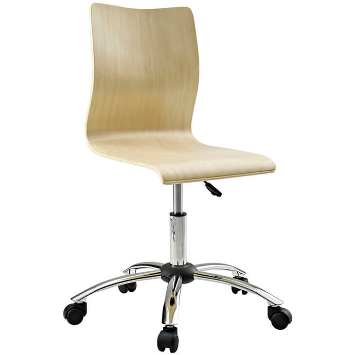 natural wood task office chair 3
