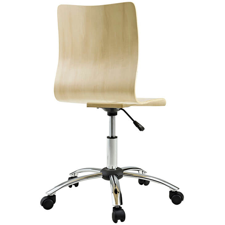 natural wood task office chair