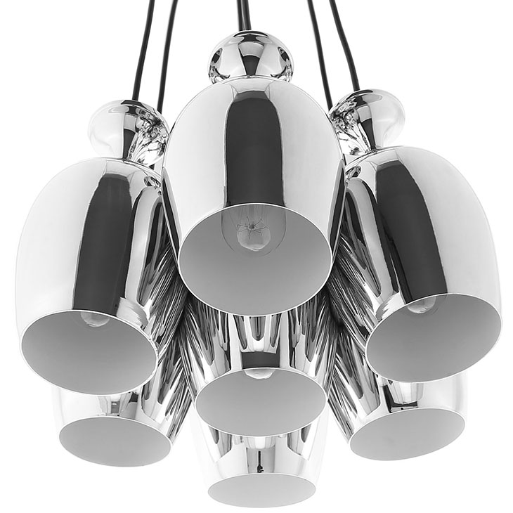 silver cups chandelier