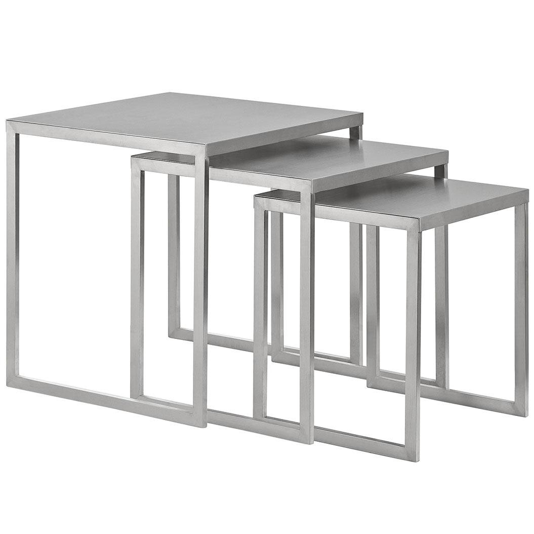 stainless steel nesting table set 3 461x614  sc 1 st  Brickell Collection & Stainless Steel Nesting Table Set | Modern Furniture \u2022 Brickell ...