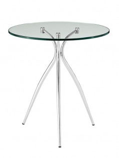 ultra glass chrome side table 237x315