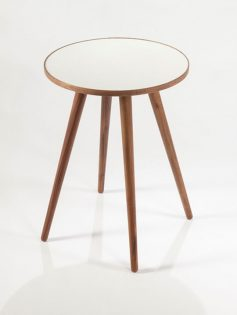 Pencil Leg Walnut White End Table 237x315
