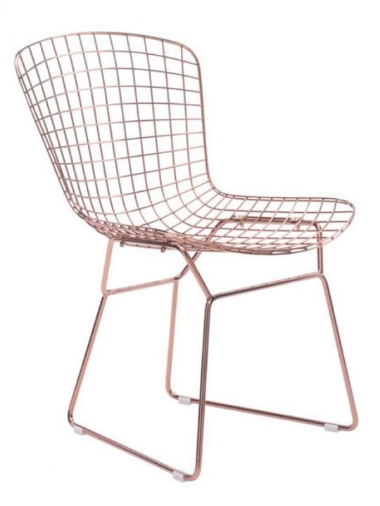 Rose Gold Wire Dyson Chair 2