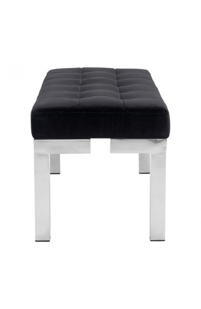 black soft seatng bench