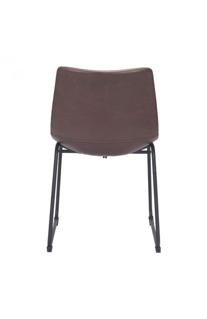 bruno brown leather chair 2