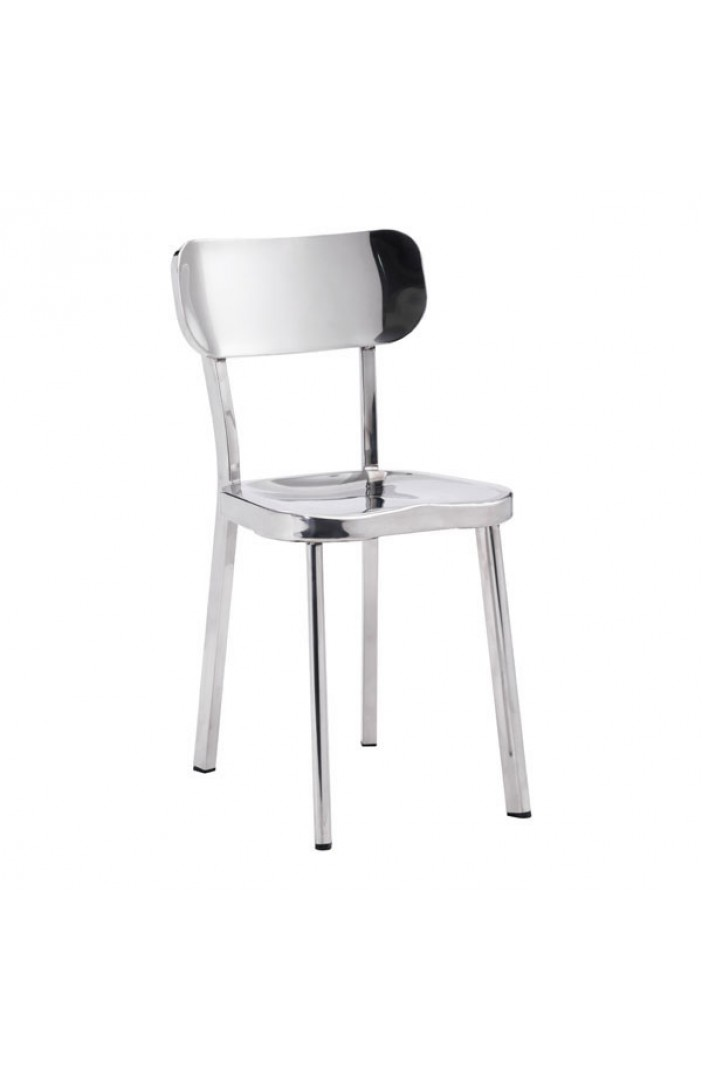 chrome metallic chair