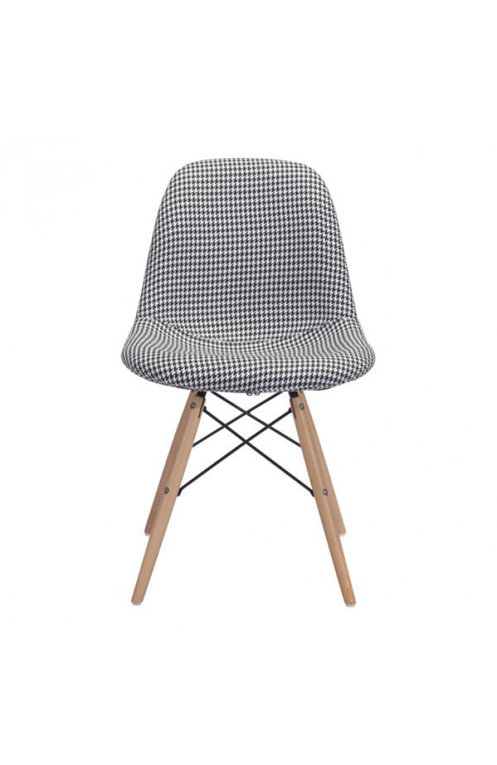 houndstooth fabric chair modern