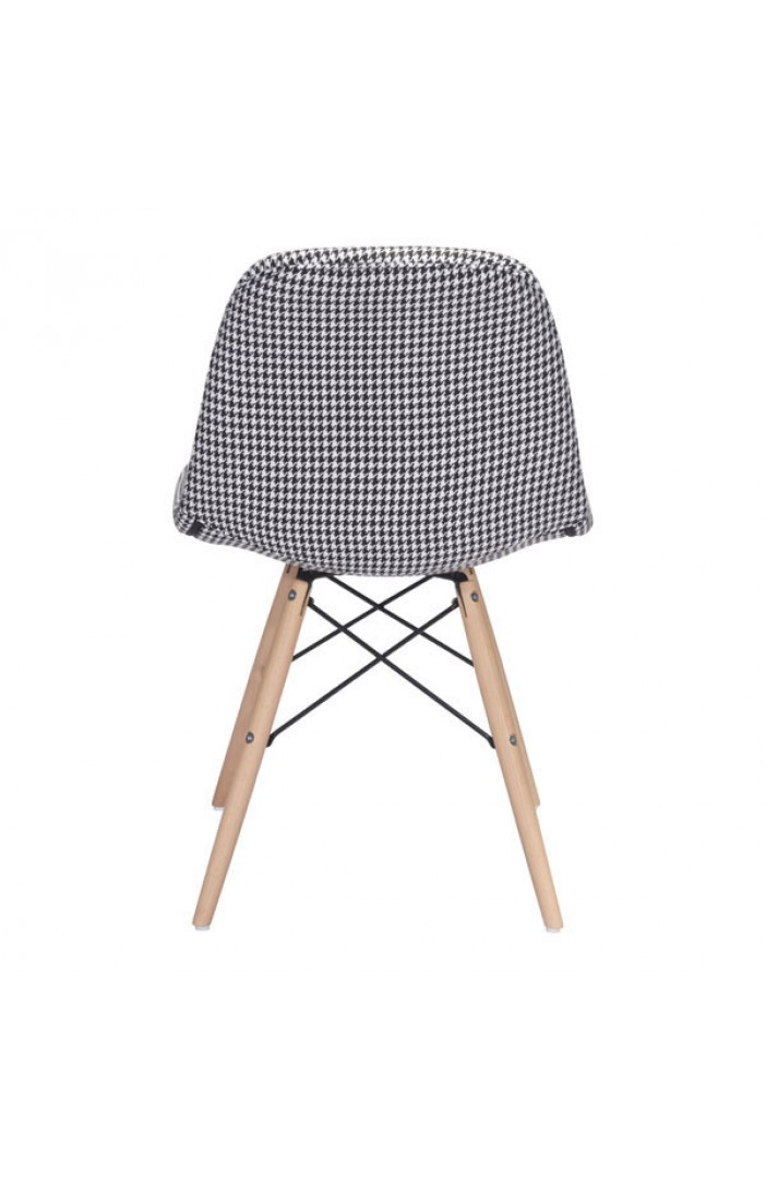 houndstooth fabric chair