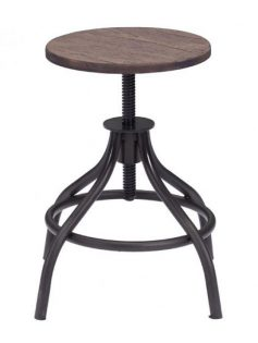 industrial wood low stool 237x315