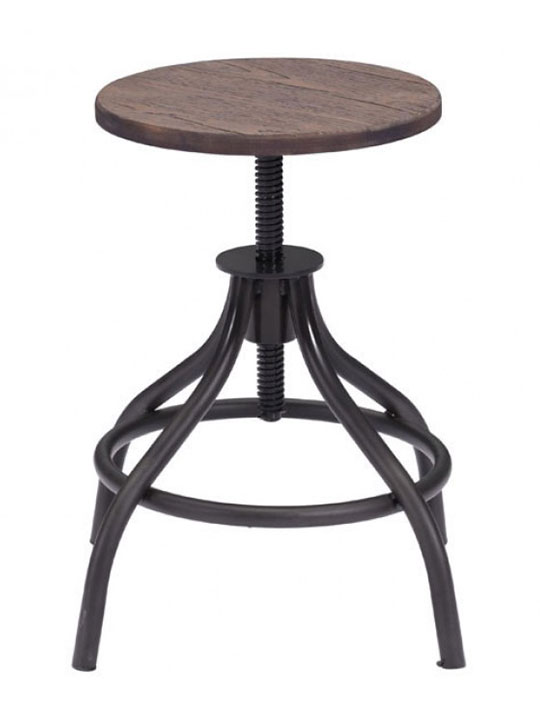 industrial wood low stool