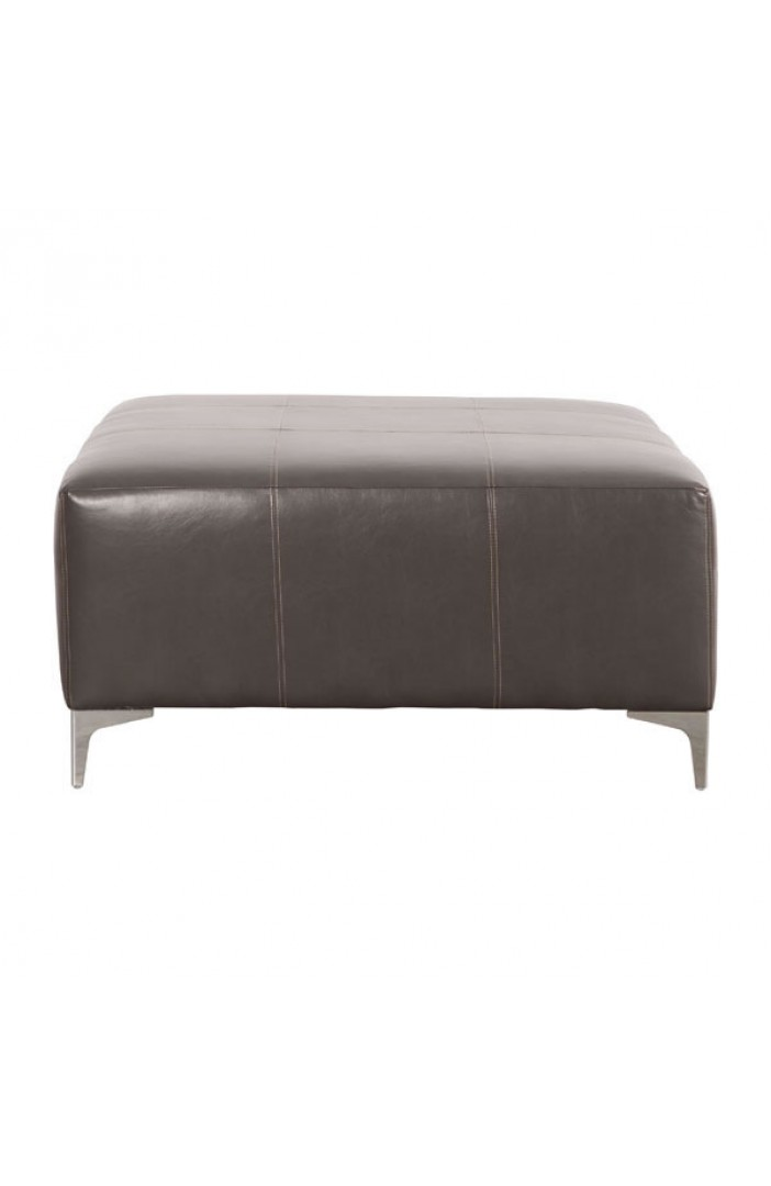 large ottoman table brown leather