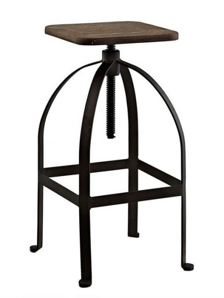 reclaimed wood square barstool 1 1 461x614