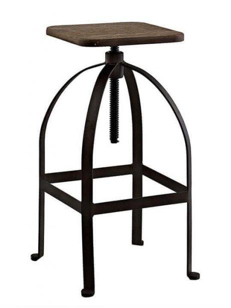 reclaimed wood square barstool 1 461x614