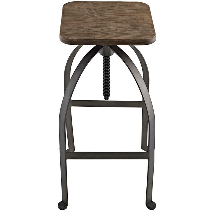 reclaimed wood square barstool 3 1