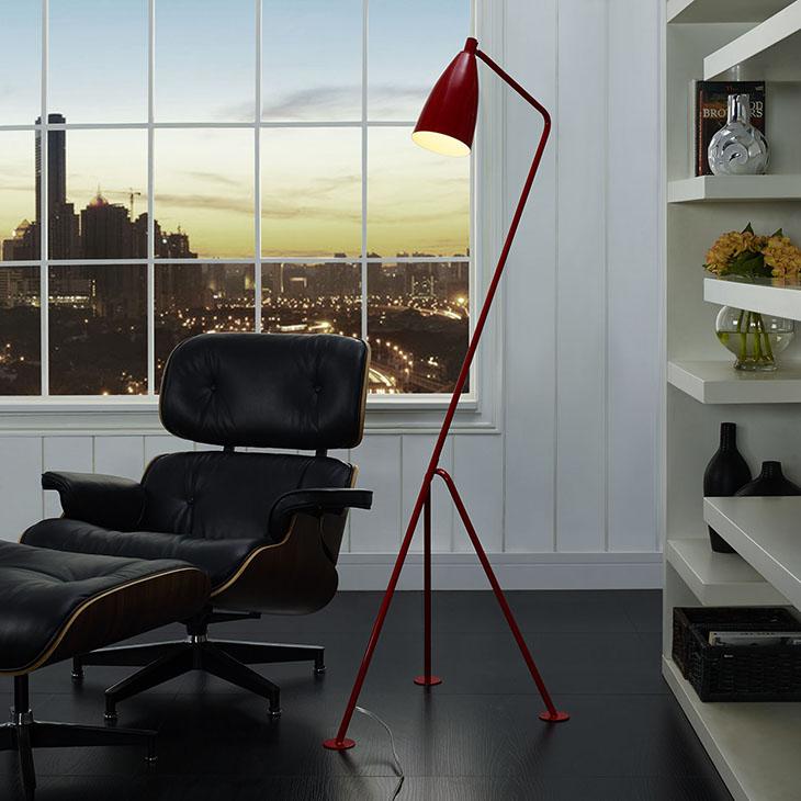 red retro floor lamp 5