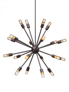 sputnik black metal chandelier 237x315