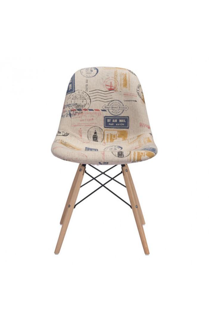wood fabric chair